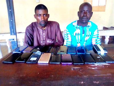 Police intercept 23 stolen android mobile phones in Bayelsa, arrest two suspects