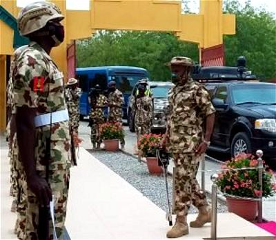 Assessing insurgency: Defence Minister, CDS, Service Chiefs storm Maiduguri