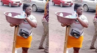 Sanwo-Olu hands over amputee sachet water hawker to police over untrue stories