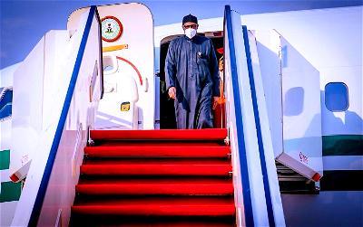 Breaking: Buhari arrives Maiduguri International Airport