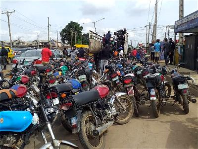 Lagos Task Force impounds 81 motorcycles on restricted routes