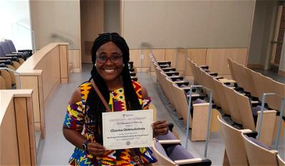 Chioma, Nigerian is first international recipient of Northrup award in US