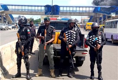 Police motorcyclists clashed in Lagos
