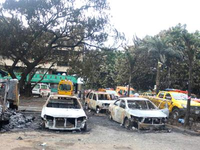 Fire in Lagos, Gas explosion