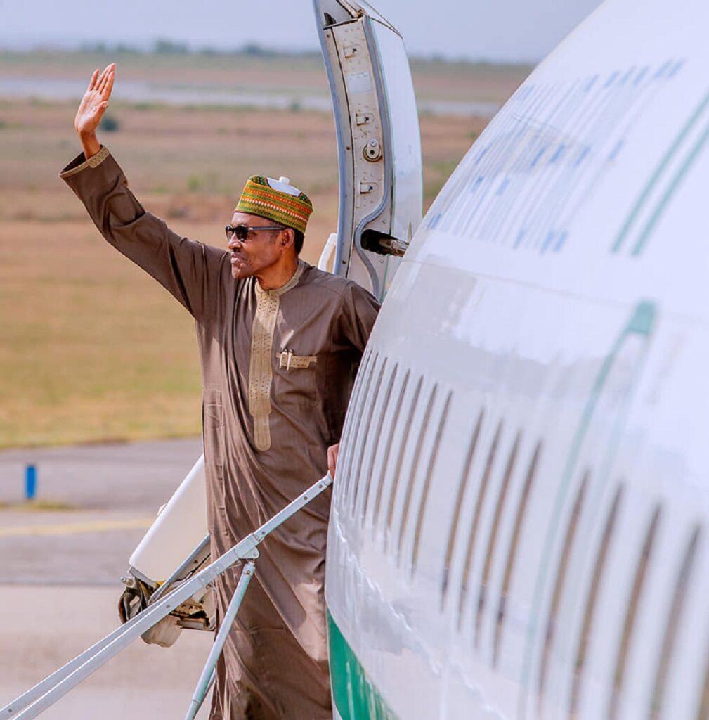 Buhari leaves for London