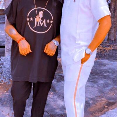 Collins Onyeaji (l) and J Monkey