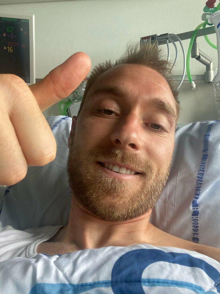 'I'm fine' ― Smiling Eriksen appears in first picture, provides update on condition