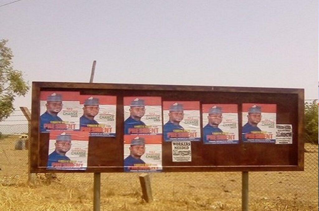 2023: Yahaya Bello's campaign posters flood Abuja