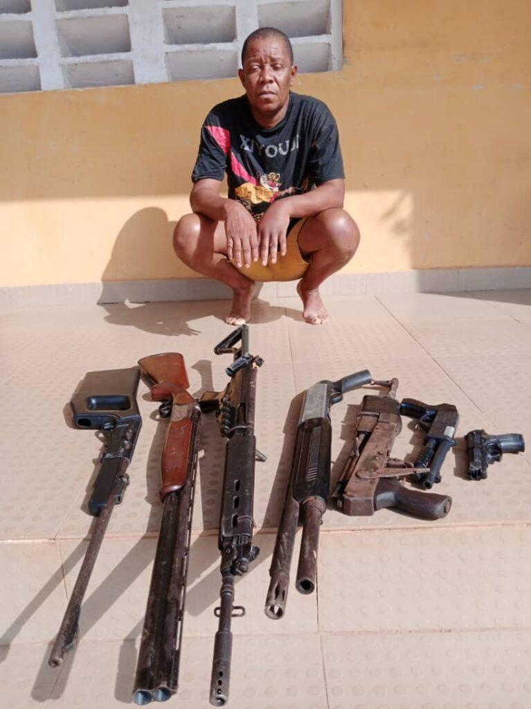 gun runner, criminals in Delta