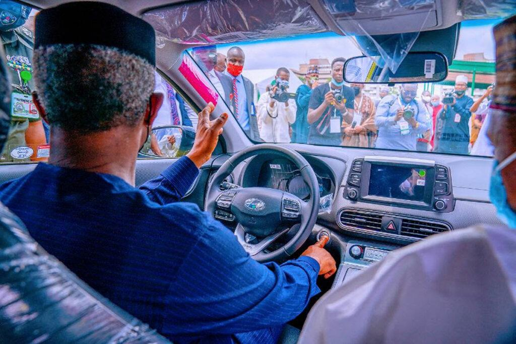 Electric car assembled in Nigeria fantastic innovation, I can tell because I just drove it, Osinbajo says