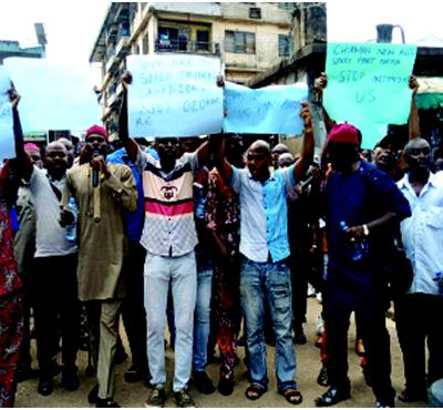Anambra traders, Protest