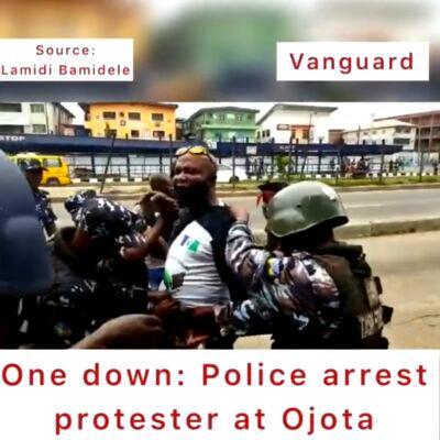 ONE DOWN: Police arrest Yoruba nation agitator at Ojota (VIDEO)