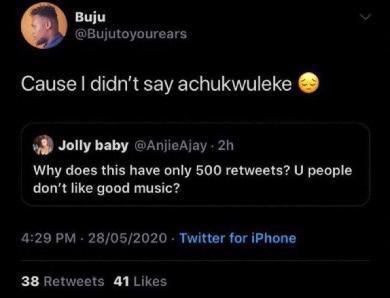 Buju tweets, Wizkid, Davido