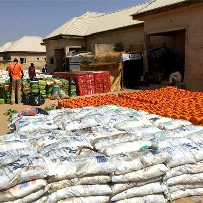 NEMA distributes beans, rice, oil, salt others to Borno IDPs
