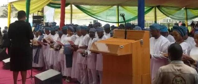 Sanwo-Olu swears in 57 newly-elected council chairmen