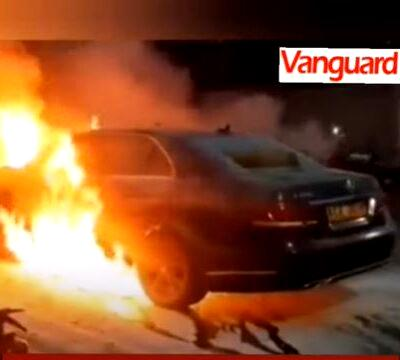 Wife sets ablaze Benz hubby bought for side chick