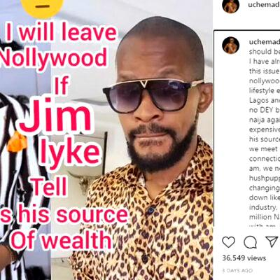 Jim Iyke beats up Uche Maduagwu for questioning his source of wealth