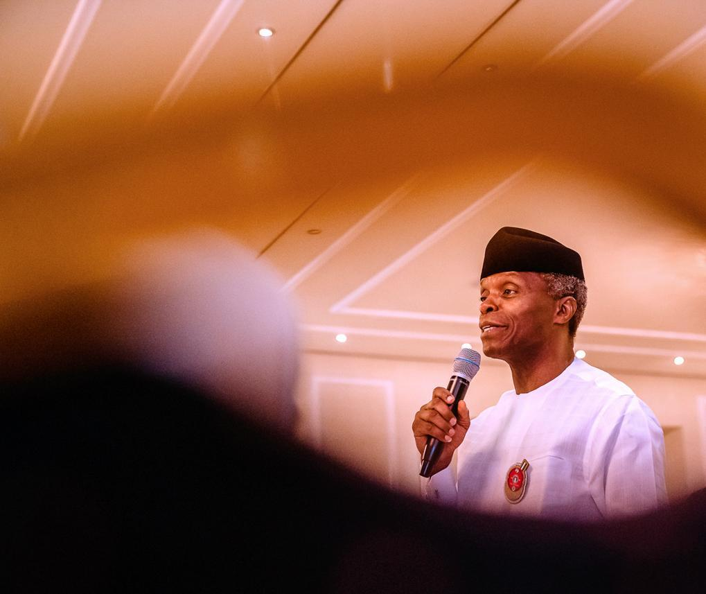 National security, economic success, greatness more likely with unity, tolerance ― Osinbajo