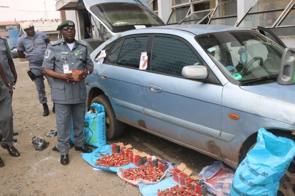 Customs intercept live cartridges concealed in cassava flour