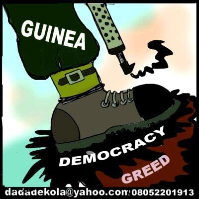 Cartoon: Guinea, Democracy, Greed