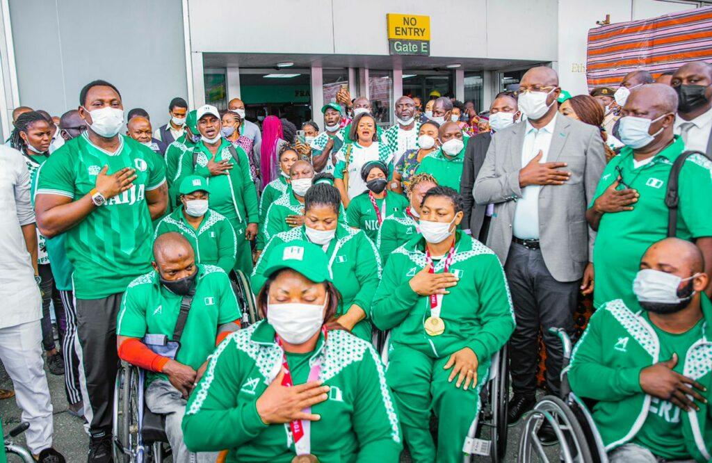 PARALYMPIC GAMES:  Sports minister, Amokachi welcome heroic Paralympians