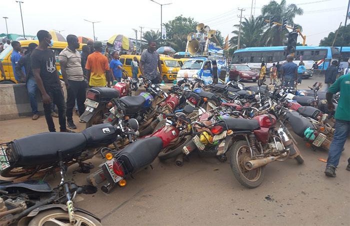 Lagos Task Force impounds 410 'okada'
