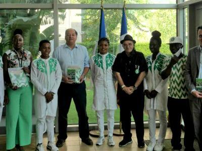 World Track Cycling Championship: French envoy celebrates Nigerian cycling quartet