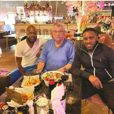 Jay Jay Okocha reunites with Westerhof in London