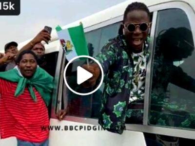 EndSARS Anniversary: Falz, other Nigerians protest at Lekki Tollgate