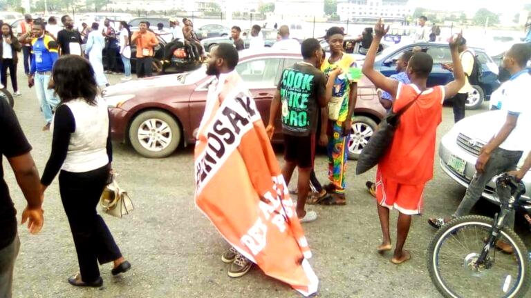 #EndSARS: Sunday Igboho followers joins protest in Oyo